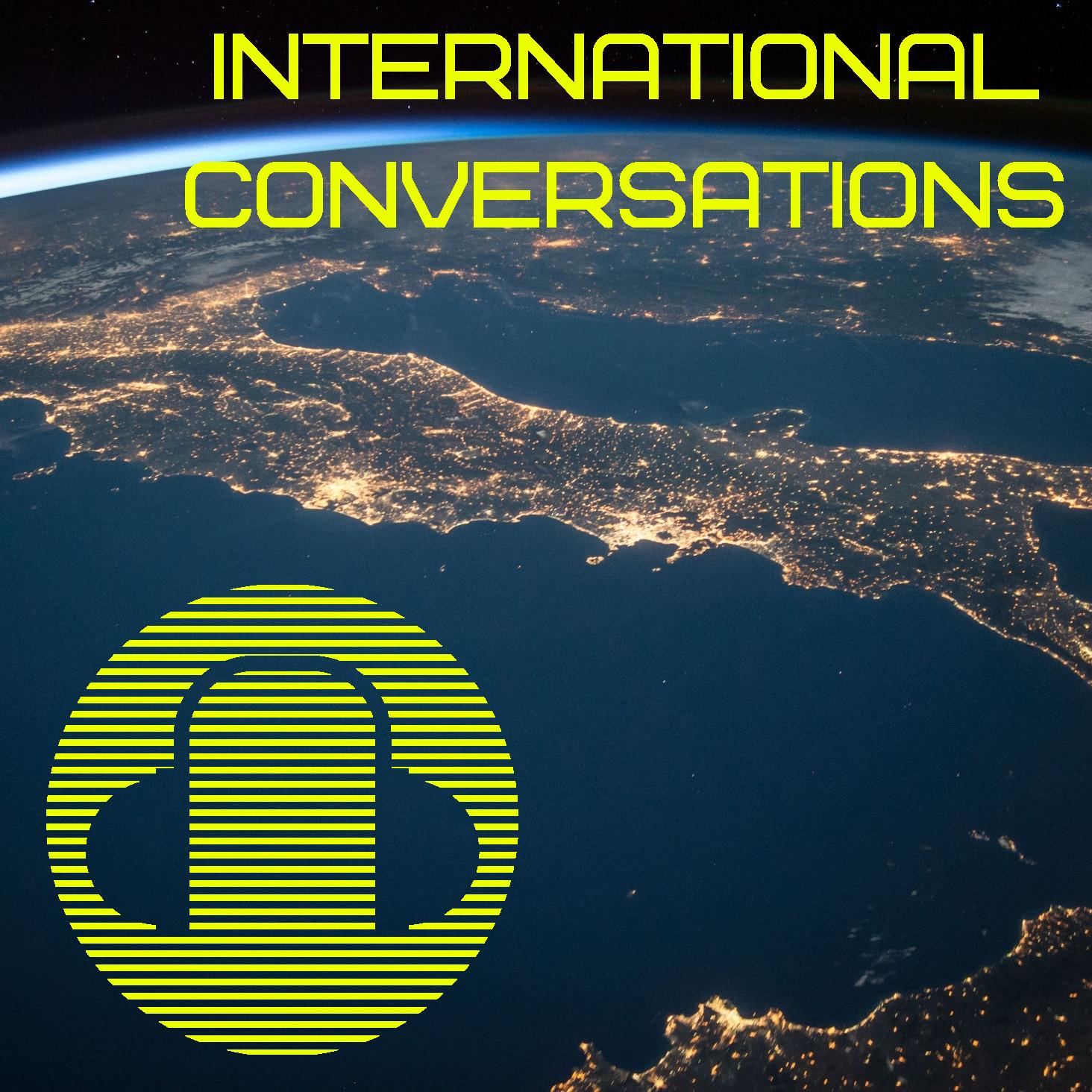 KGPC Radio International Conversations show logo