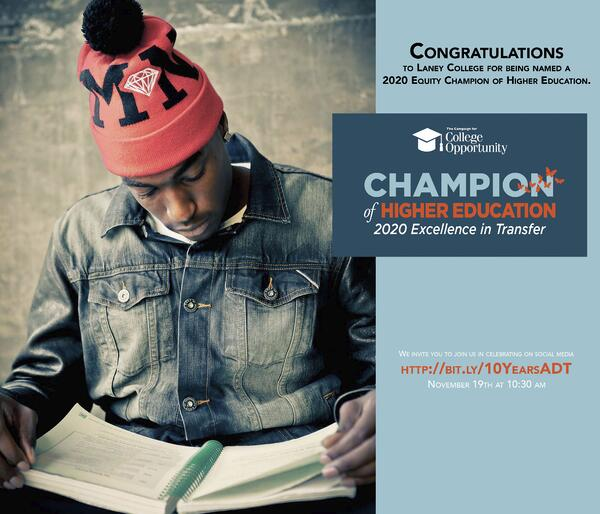 Laney champion of higher education