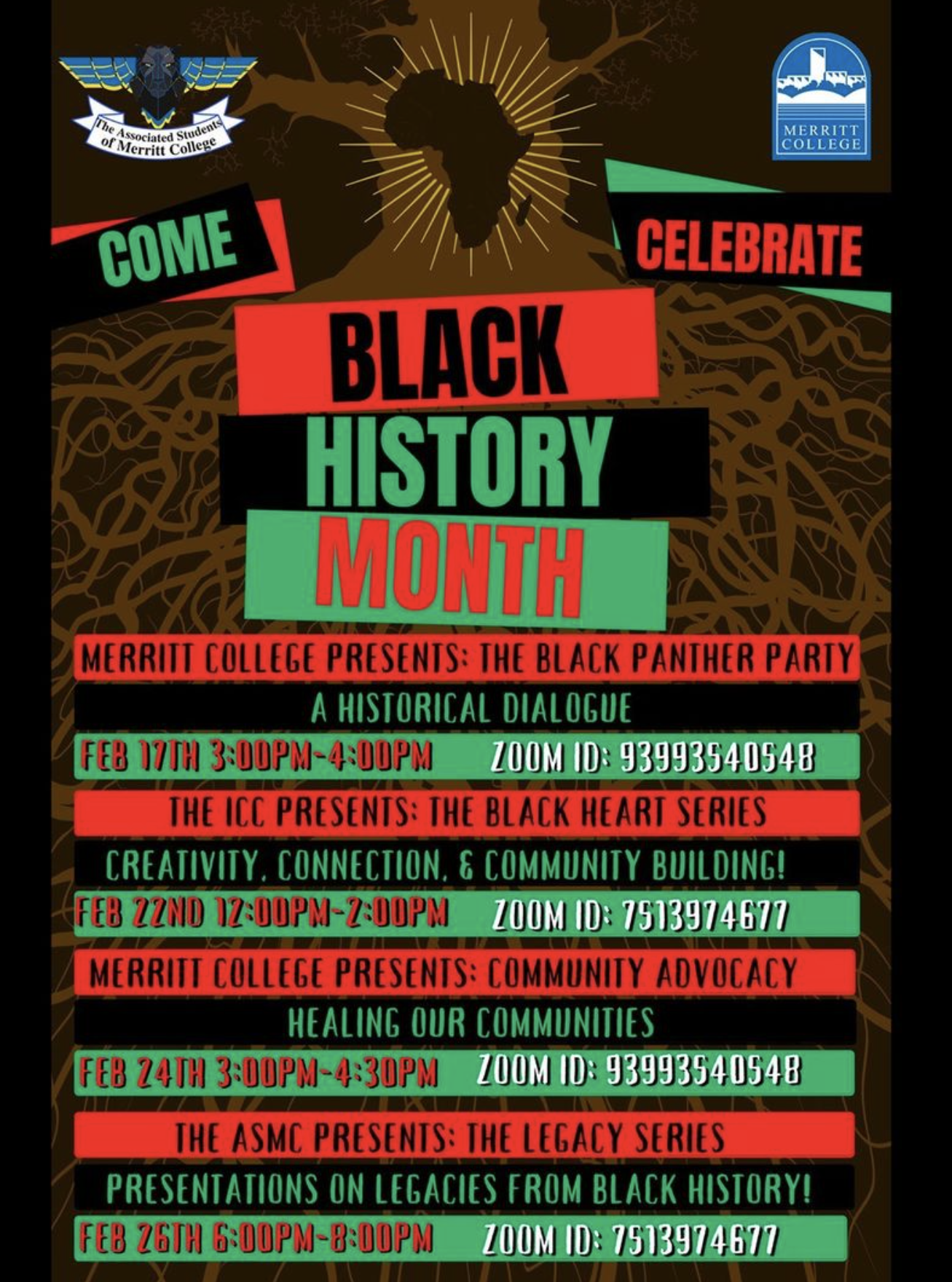 Black History Month events at Merritt College