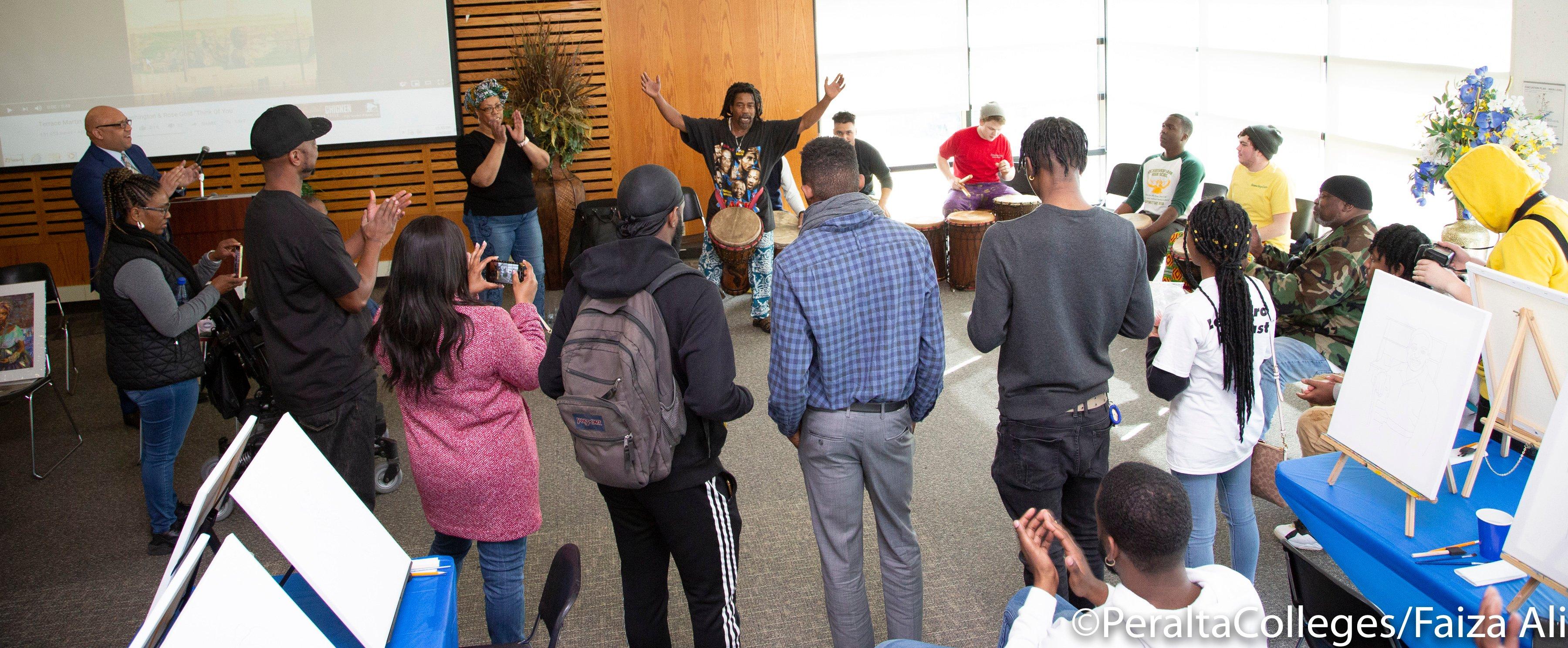 merritt college drum circle sankofa umoja 2020